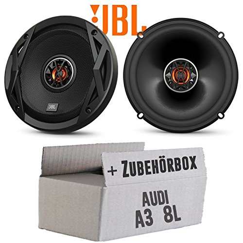 Lautsprecher Boxen JBL Club 6522   2-Wege   16cm Koax Auto Einbauzubehör - Einbauset für Audi A3 8L Heck - JUST SOUND best choice for caraudio