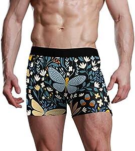 Fitted Boxer Bóxer Patrón de Mariposas Boxer Calzoncillos para Hombre,7,XXL