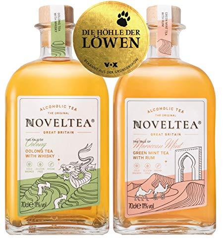 Noveltea: Alkoholischer Tee - 2er Set - The Tale of Oolong & Tangier - 2 x 700ml - Die Höhle der Löwen - Whisky/Rum - 11% Vol.