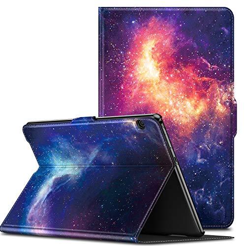 INFILAND Huawei MediaPad T5 10 Funda Case, Super Delgada Soporte Frontal Cover para Huawei MediaPad T5 10 10.1 Pulgadas 2018 Tablet PC,Galaxia