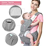 Bamny Babytrage Bauchtrage Kindertrage mit Hüftsitz, 6 in 1 Verstellba,Reine Baumwolle Leicht und atmungsaktiv, Vollständiger Schutz für Neugeborene und Kleinkinder von 0-36 Monate(3.5 bis 20kg)