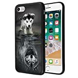 youxieshang Wolf iPhone 7 8 Case Customized Design Anti-Scratch Flexible Shock Absorption Soft TPU Protective Phone Case for iPhone 7 8-Black