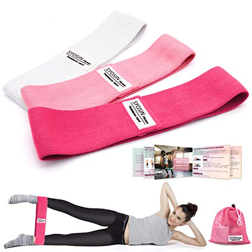 YUHENGLE Resistance Bands, Non-Slip Exercise Loop Bands for Hips and Glutes 3 Resistance Levels for Butt, Legs and Whole Body Work Out, Durable Strong Fitness Bands for Pilates, Yoga and Bodybuilding