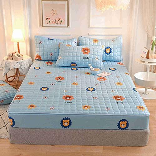 DCWE Home - Protector de colchón impermeable acolchado, funda de colchón impermeable, antiácaros, hipoalergénico, acolchado de microfibra transpirable (15,180 x 200 cm)