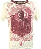 GURU SHOP Weed T-Shirt, Herren, Buddha Weiß, Baumwolle, Size:XL, Bedrucktes Shirt Alternative Bekleidung