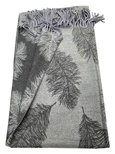 Bufanda de plumas de color gris claro, súper suave, con borlas para invertir, suave y cálida, elegante bufanda a la moda.