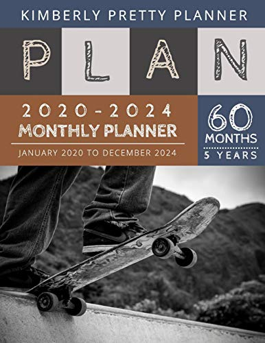 5 year monthly planner 2020-2024: five year monthly planner | 60 Months Calendar, 5 Year Appointment Calendar, Business Planners, Agenda Schedule Organizer Logbook and Journal | Sketchboard Design