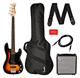 Affinity Precision Bass PJ Pack Laurel 3-Color Sunburst + Bolsa de transporte + amplificador Rumble 15