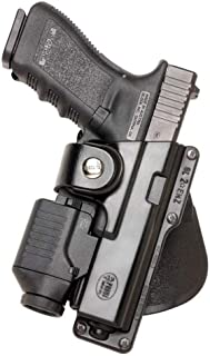 Fobus Roto Tactical Speed Holster Paddle Left Hand GLT17RPL Glock 17,22,31 / Ruger 345 / Berretta PX Storm / S&W M&P Full Size / Berretta PX4 Storm Full Size / S&W 99 Full Size 9/40/45 / Walther 99 Full Size 9/40 / Ruger SR9 / Sig 226 holds Handgun with Laser or Light