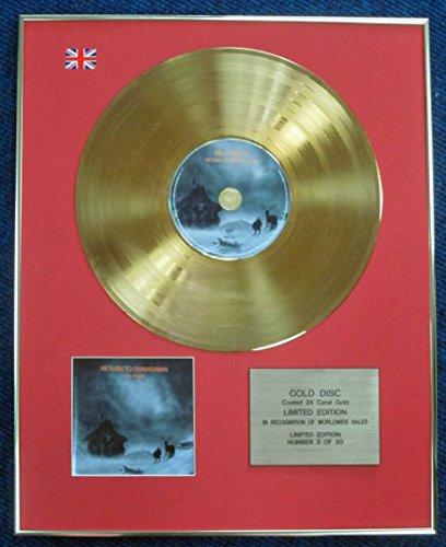 Mike Oldfield–Limited Edition CD 24Karat Gold beschichtet LP Disc–Return To OMMADAWN