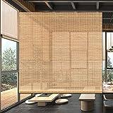 persianas de Bambu Casa de te Persianas Enrollables de Bambú, 60cm-140cm de Ancho Japonés Cortina de Partición de Privacidad con Accesorios Montaje en Pared y Techo (Size : W80cm×H180cm)
