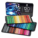 SJ STAR-JOY 120 Colored Pencils for Coloring Books, Premier Coloring Pencils Set with Vibrant Color, Perfect Holiday Gifts for Colorist Drawing, Soft Core Colored Pencils