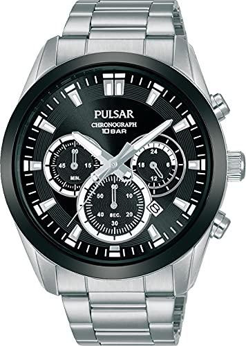 Pulsar Reloj Analógico para Hombre de Cuarzo con Correa en Metal PT3A95X1