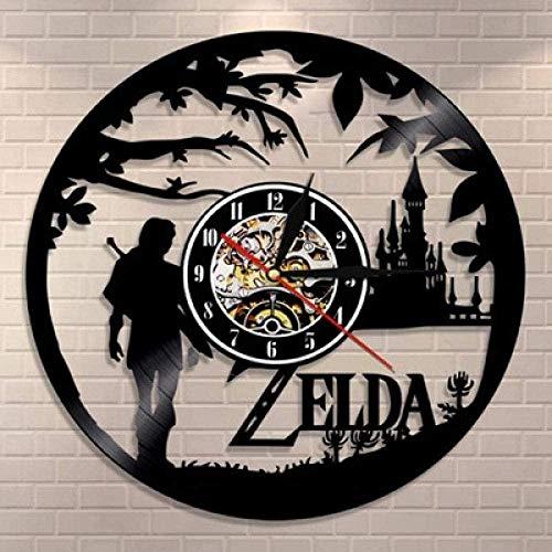 szhao Vintage Vinyl Wanduhr Vinyl Wanduhr Zelda Lovers Wanduhr Wanduhr Geschenkuhr - Mit Led