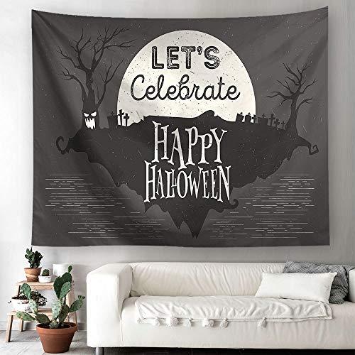N / A Halloween Wandteppich Wandbehang Wandteppich Kürbis Druck Strand werfen Handtuch Pad Tischdecke Wandteppich Hintergrund Stoff A2 130x150cm