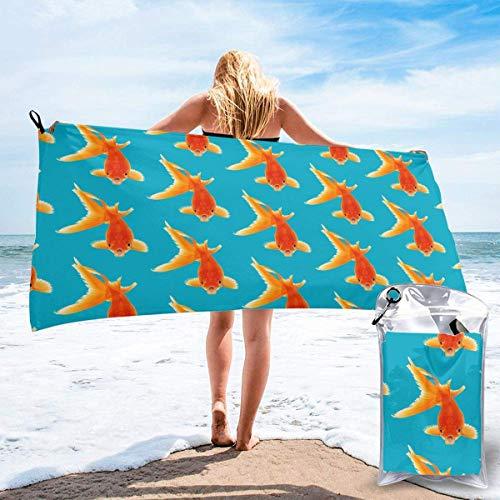 Beach Towels Real Fish Toalla ligera de secado rápido Toalla súper absorbente sin arena para viajes, natación, gimnasio, yoga 140X70CM