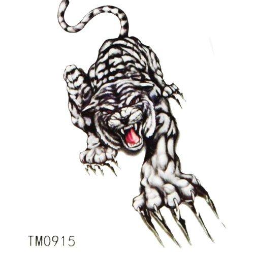 King Horse imperméables colorés autocollants de tatouage de tigre animaux