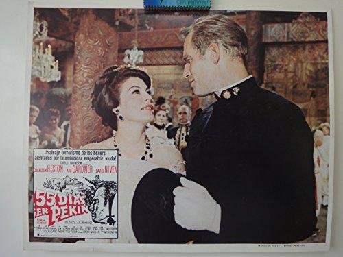 Lobby Card 55 Dias En Pekin Charlton Heston Ava Gardner 1963