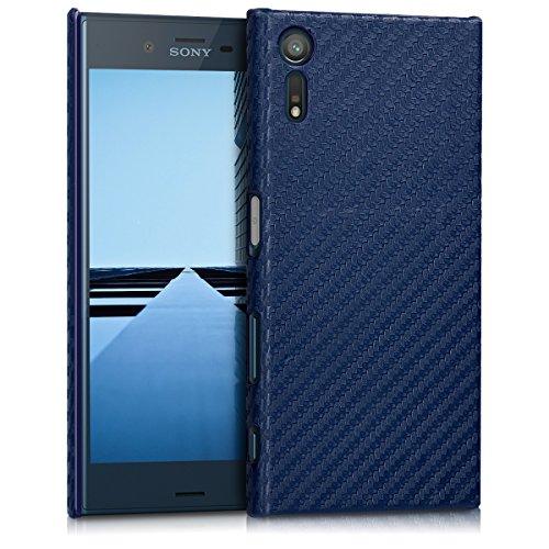 kwmobile Hülle kompatibel mit Sony Xperia XZ/XZs - Handy Hülle Handyhülle - Backcover Hardcover Cover Schutzhülle Dunkelblau