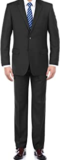 100% Wool Fashion Business Suit Classic Regular Fit Solid Color