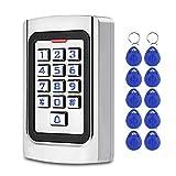 FST Teclado Control Acceso IP68 Teclado RFID a Prueba de agua Controlador de Acceso de Metal Lector de Tarjetas EM 125KHz + 10pcs Sistema de Exterior Para llaveros
