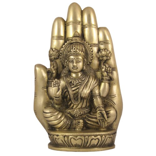 Shalinindia Lakshmi Statue Messing Figur