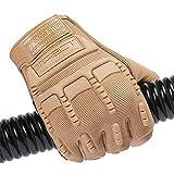 SFHGanti - skid taktische halben finger handschuhe für männliche besondere soldaten im bergsteigen,Sand,M