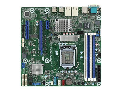 ASRock Rack E3C242D4U2-2T LGA1151/ Intel C242/ DDR4/ SATA3undUSB3.0/ Vund2GbE/ MicroATX Server Mainboard