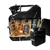 MikaMax – Jerrycan Whiskeybar 5L – Kanister Minibar – Mobile Bar – 5L –Schwarz – Metall – 24.5 x 9.5 x 28 cm – Geschenke für Männer – Whisky Geschenkset