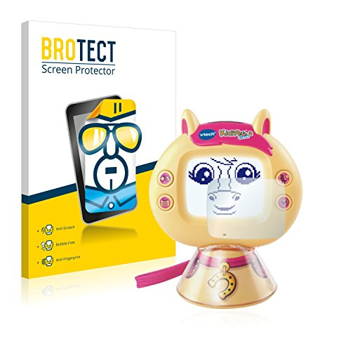BROTECT Protector Pantalla Compatible con Vtech KidiPet Touch 2 (Pony) Protector Transparente (2 Unidades) Anti-Huellas