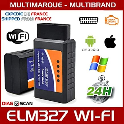 MISTER DIAGNOSTIC Interface/Maleta de diagnóstico ELM327 OBD2 WiFi – Multi Marcas – Diagnóstico Auto – Lector de códigos defectuosos