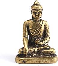 ZGPTX Copper Sakyamuni Buddha Miniature Figurine Home Decor Statue Brass Sculpture Office Desktop Decoration Car Ornaments