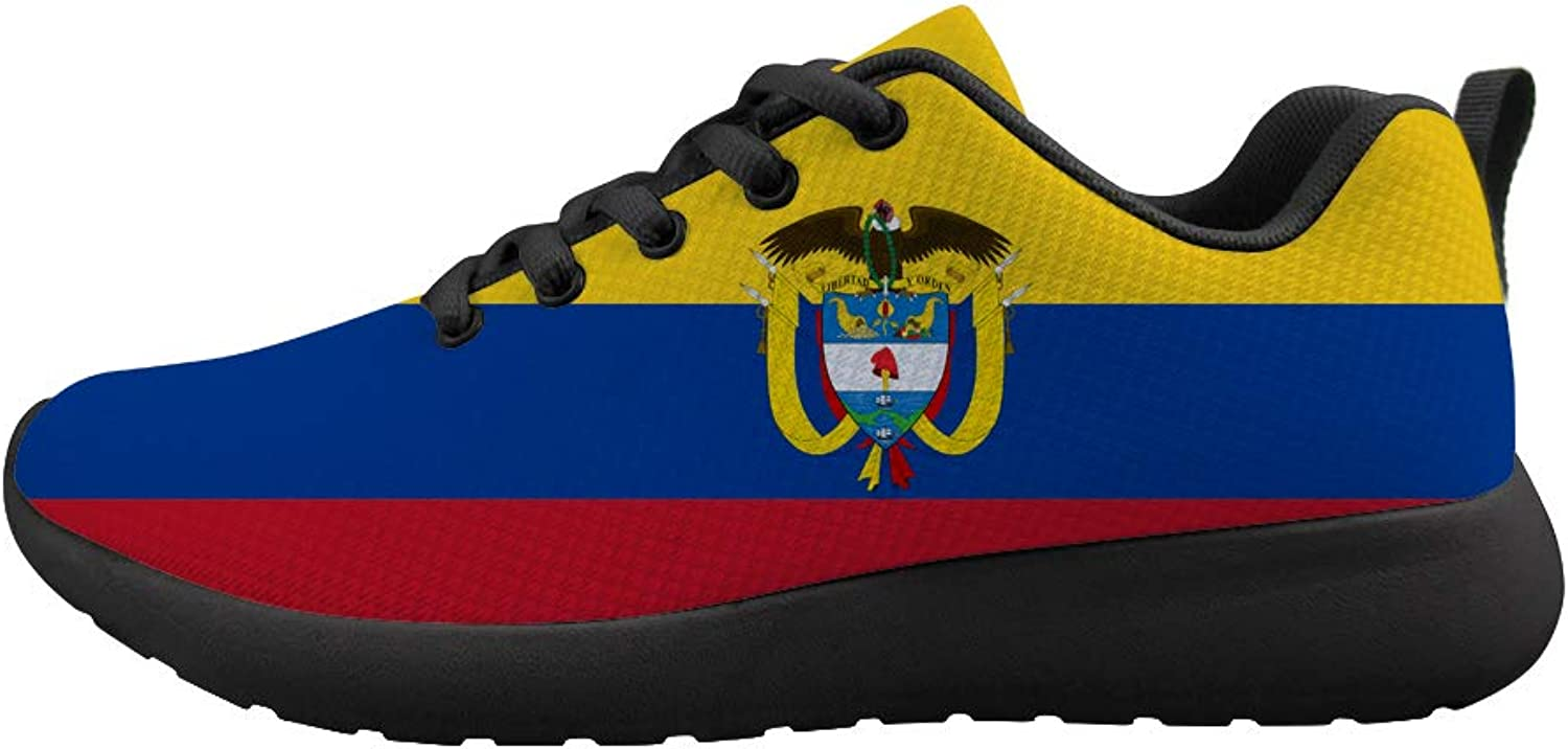 Owaheson Cushioning Sneaker Trail Running shoes Mens Womens Colombian Flag National Emblem