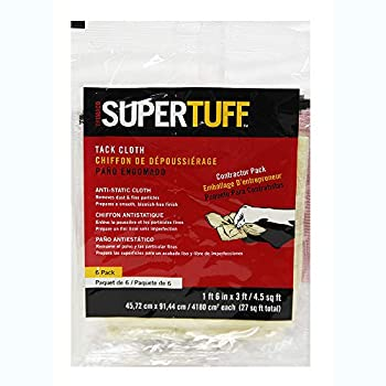 Trimaco 10506 SuperTuff Tack Cloth 18 x 36-inch 6 Count Pack of 6 tan