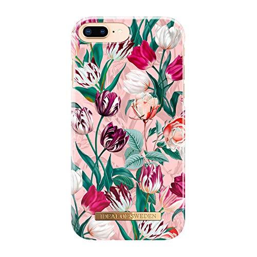 iDeal of Sweden Handyhülle für iPhone 8 Plus / 7 Plus / 6 Plus / 6s Plus (Mikrofaserfutter, Qi Wireless Charger Kompatibel) (Vintage Tulips)