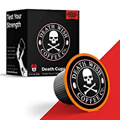 WORLD'S STRONGEST: Death Cups are packed with our signature dark-roasted Death Wish Coffee that will instantly transform your basic cup of joe into a delicious, bold, and intense beverage that will revolutionize your morning. Get ready to wake up, fe...