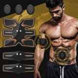 Abs Stimulator Muscle Toner Abdominal Toning Belt EMS ABS Toner Body With 11 modes 25 intensities Ab Muscle Trainer Wireless Portable Unisex Fitness for Abdomen/Arm/Leg Training Home Office Exercise