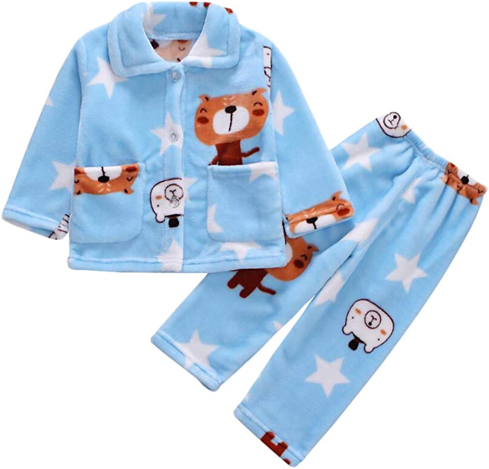 DEBAIJIA Kind Pyjama 0-12T Baby Schlafanz/üge Kinder Nachtw/äsche Kleinkind Hauskleidung Junge M/ädchen S/ü/ß Baumwolle Cartoon Sommer