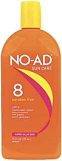 NO-AD 8 Protective Tanning Lotion, SPF 8 16 fl oz (Pack of 2) packaging may vary