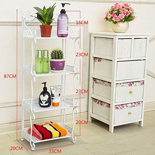 LXDDP Mensola da Bagno, Ferro da Bagno in Stile Europeo, scaffale per WC, lavandino, mensola da Bagno (Colore: Bianco, Dimensioni: 87 cm)