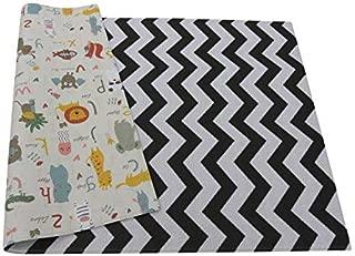 Baby Care Soft Playmat/Kids Play Mat Zig Zag Black - Medium