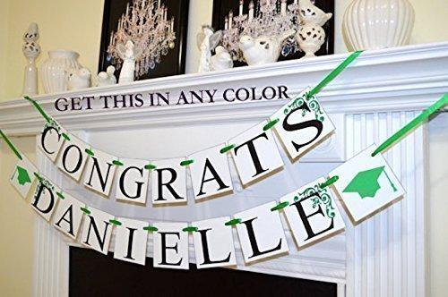 congratulations sign school grad decor customized name banner graduation decorations graduation party decor Congrats banner