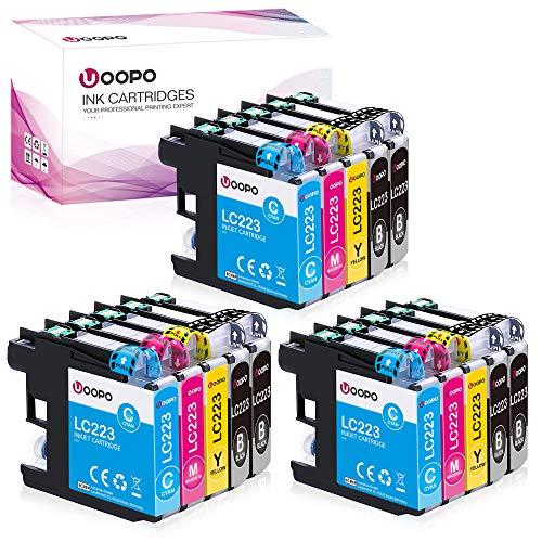 Uoopo LC223 Ersatz für Brother LC223 Druckerpatronen für Brother DCP-J562DW DCP-J4120DW, Brother MFC-J5320DW J5620DW J480DW J4420DW J880DW J4620DW J5625DW J680DW J4625DW J5720DW (15er-Pack)