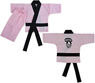 Playwell Martial Arts Pink Baby Infant Karate Uniform Gift,