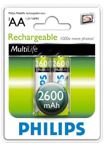 Philips Multilife Akku R6 2600mAh AA 2er Blister