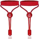 High Pulse Schnellschnürsystem – EIN Paar elastische Schnürsenkel mit Schnellverschluss für einen perfekten Sitz und sicheren Halt (Rot) -