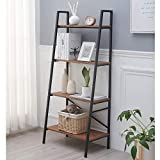 Blissun 4 Tiers Ladder Shelf, Vintage Bookshelf, Storage Rack Shelf for Office, Bathroom,...