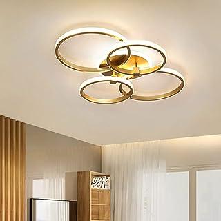 Lanekd LED decoratieve slaapkamer plafondlamp eetkamer lamp woonkamer plafondlamp goud ronde ring design jeugdkamer lamp m...