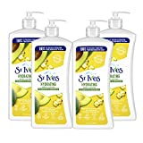 St. Ives Hydrating Hand & Body Lotion Moisturizer for Dry Skin Vitamin E & Avocado Made with 100% Natural Moisturizers 21 oz (pack of 4)