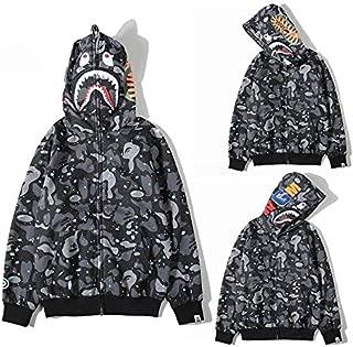 Bape Shark Pullover Hoodie Glow in dark Space Unisex fashion Skateboard Hooded Sweatshirt For Man Woman